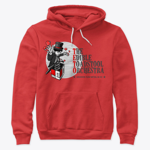 4. The Edible Toadstool Orchestra - Pullover Red -Merch